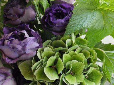 オークリーフ(緑色の花を入れて)_f0049672_14532829.jpg