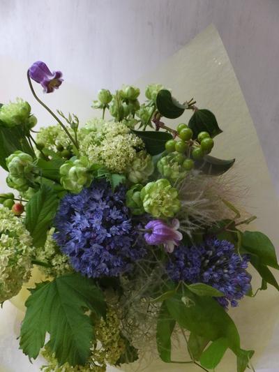 オークリーフ(緑色の花を入れて)_f0049672_1457571.jpg