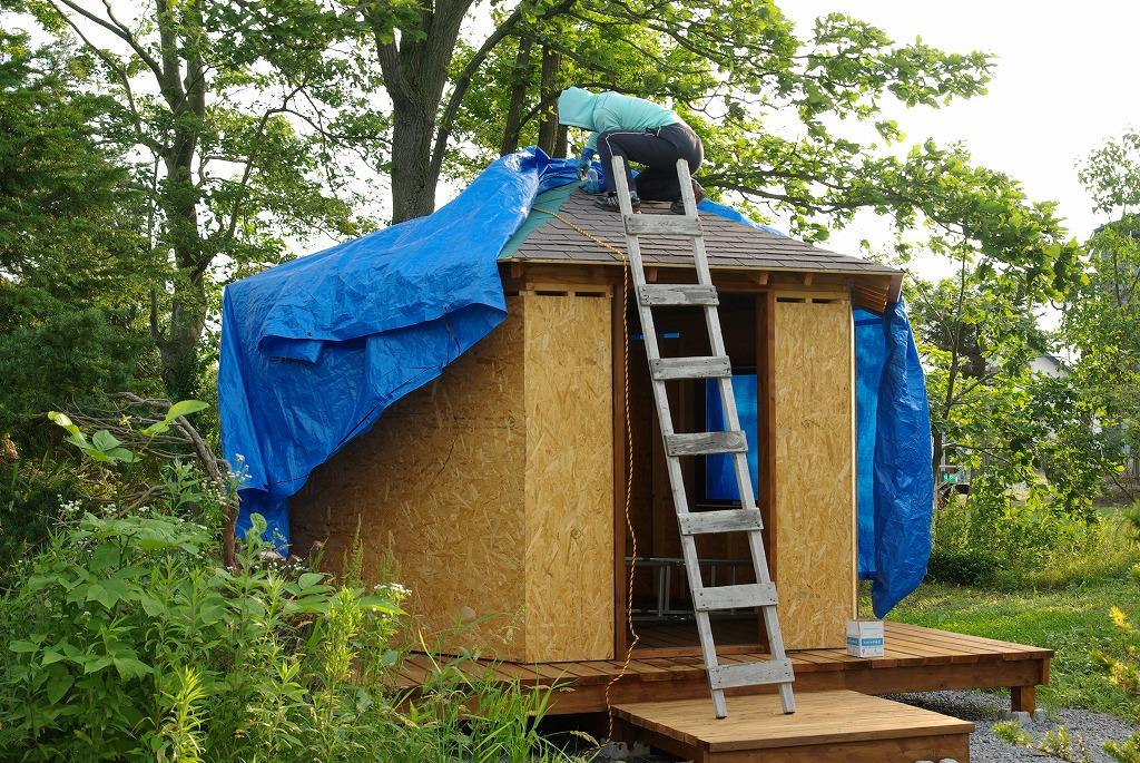 小屋作り・屋根面倒くさい編_a0107184_10185783.jpg