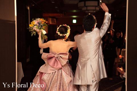 ピンク色のドレスにあわせるミックスカラーの花冠_b0113510_10512165.jpg