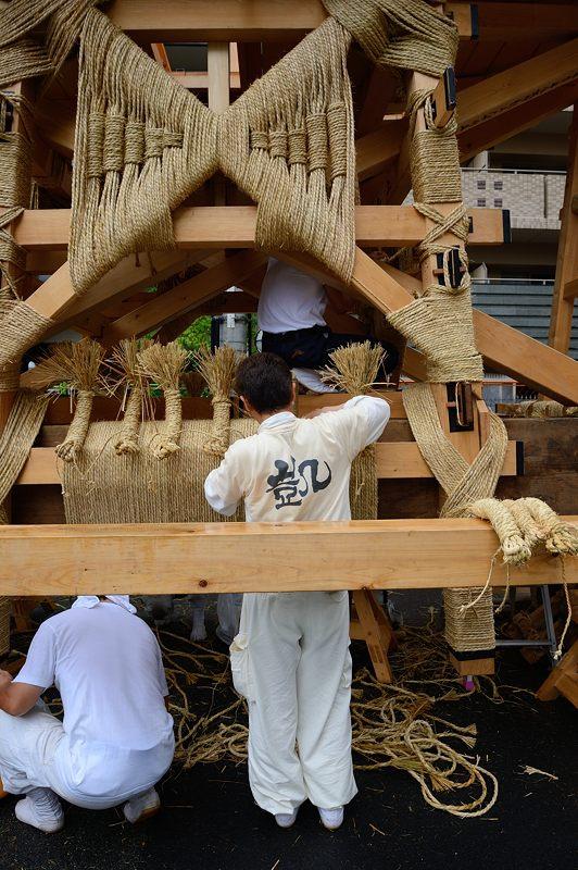 祇園祭2015 後祭・山鉾建て 其の一_f0032011_1933177.jpg