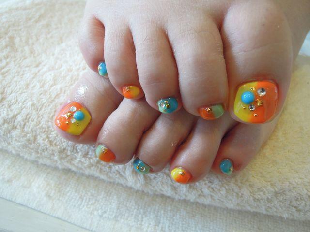 Summer Foot Nail_a0239065_1552579.jpg