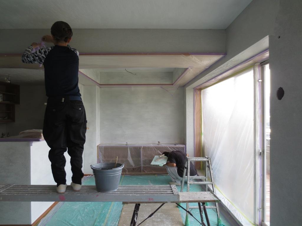 弦巻の家改修 砂漆喰塗り_c0310571_09395173.jpg