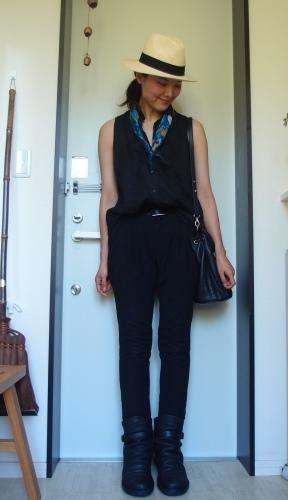 スカーフ+で冷え取りファッション15 7/22_c0342582_14052518.jpg