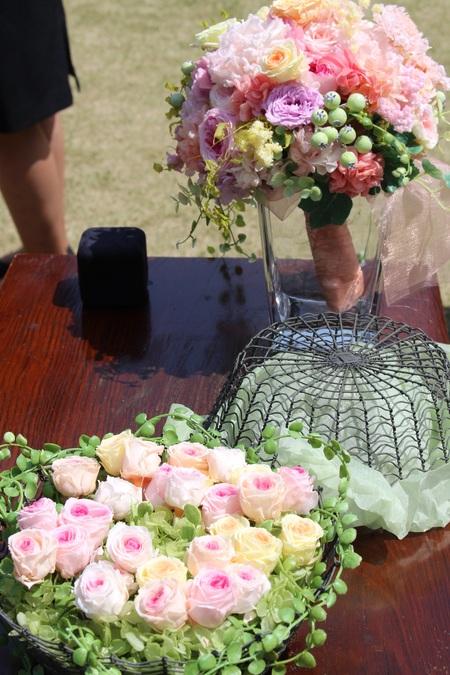 ゲスト参加で作るリングピロー 八芳園さまへ、そして海外へ_a0042928_11155837.jpg