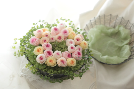 ゲスト参加で作るリングピロー 八芳園さまへ、そして海外へ_a0042928_1151767.jpg