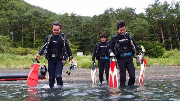 富士山の麓!本栖湖体験ダイビング!_a0226058_1356254.jpg