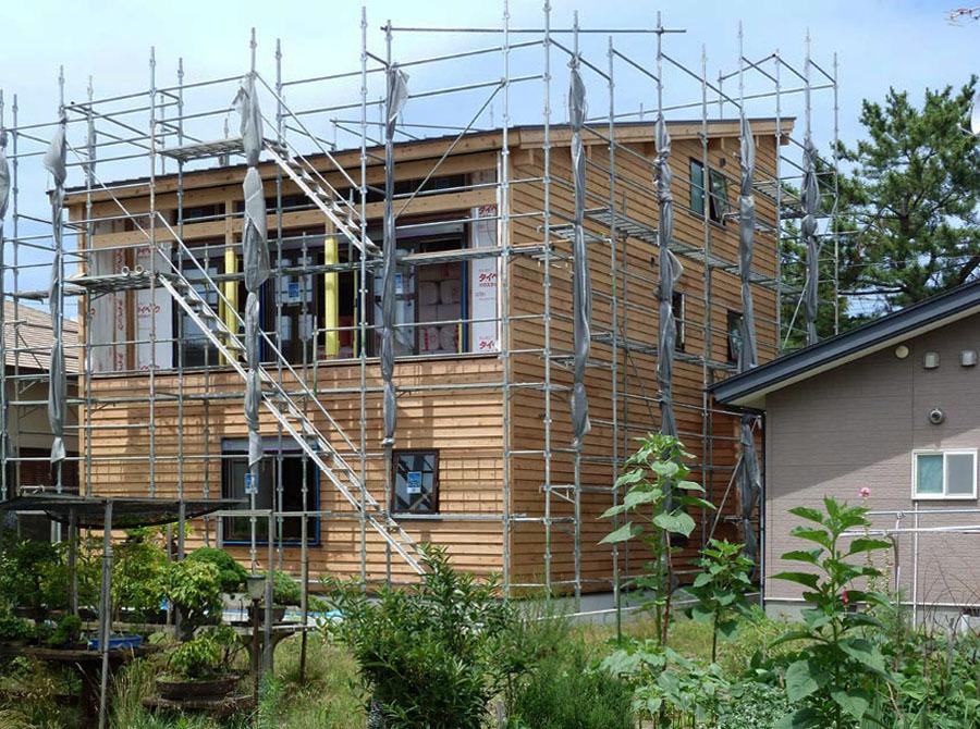 栄町公園の家:南西外観_e0054299_11271738.jpg