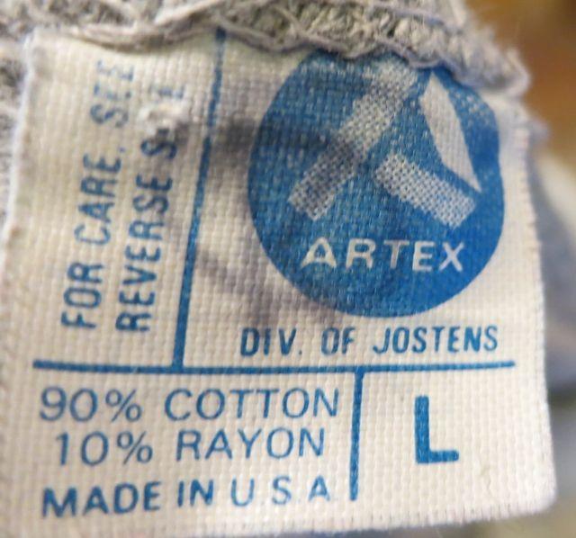 7/25(土)入荷!80\'s~ARTEX社 カレッジTシャツ!_c0144020_14251060.jpg