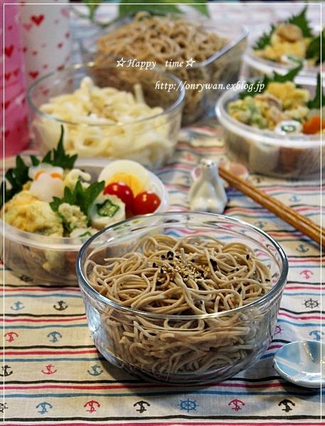 夏野菜かき揚げそば弁当と土用の丑の日なので~♪_f0348032_19174056.jpg