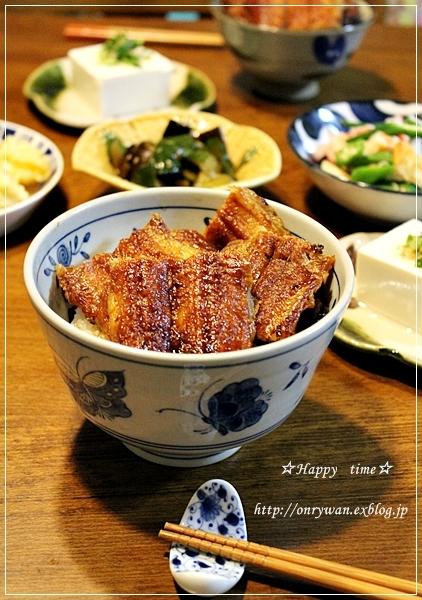 夏野菜かき揚げそば弁当と土用の丑の日なので~♪_f0348032_19175739.jpg