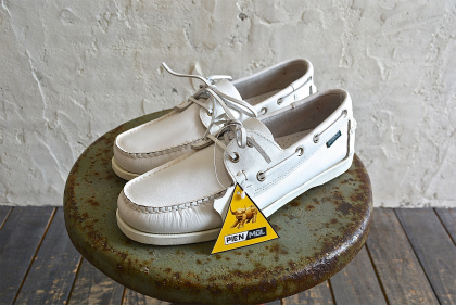 white leather deck shoes dead stock_f0226051_13221995.jpg