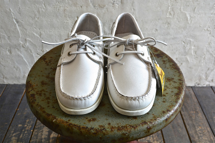 white leather deck shoes dead stock_f0226051_13223448.jpg
