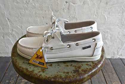 white leather deck shoes dead stock_f0226051_13224956.jpg