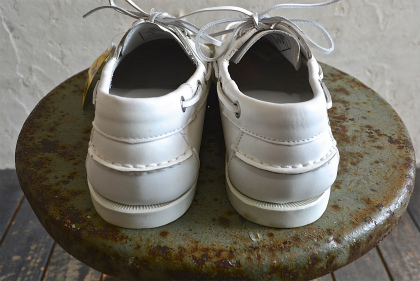 white leather deck shoes dead stock_f0226051_1323728.jpg