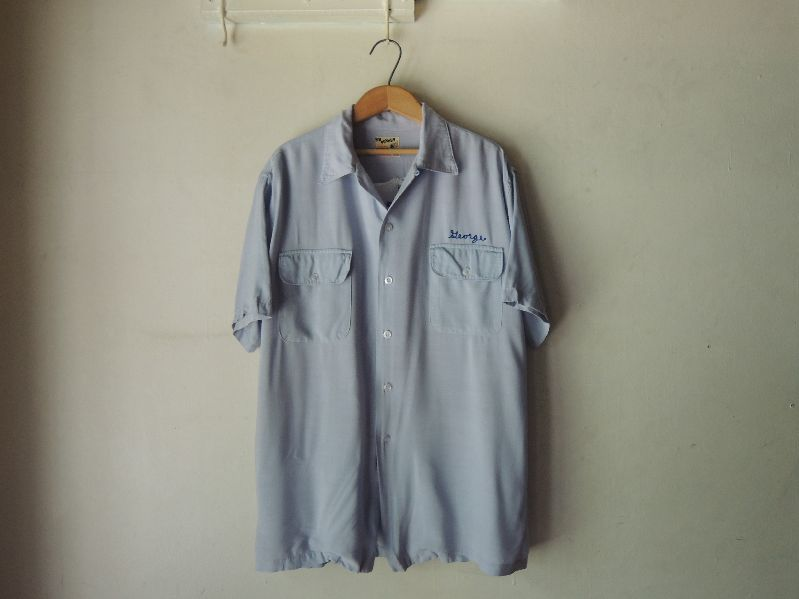 "50S PIN PUSHER RAYON BOWLING SHIRT ""GM\""--RECOMMEND--_c0176867_1359136.jpg"