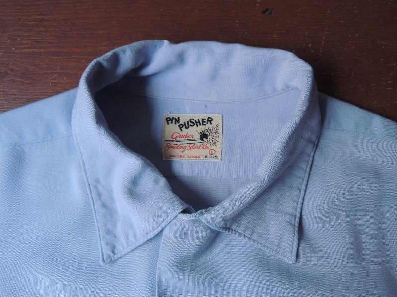 "50S PIN PUSHER RAYON BOWLING SHIRT ""GM\""--RECOMMEND--_c0176867_1423428.jpg"
