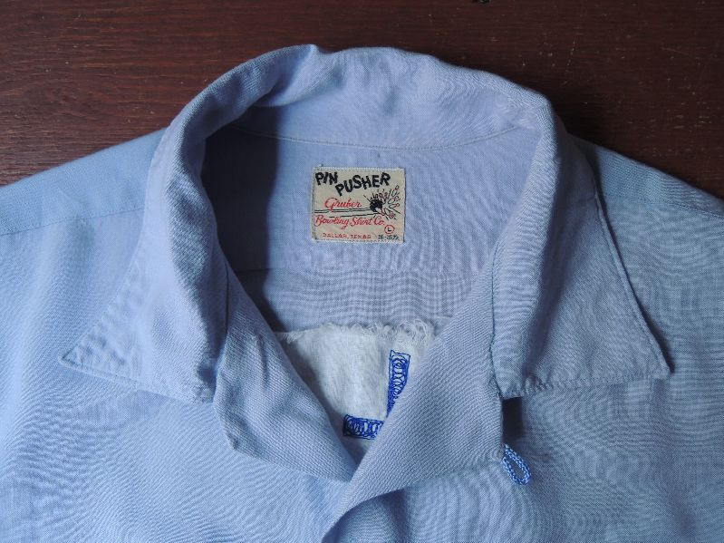 "50S PIN PUSHER RAYON BOWLING SHIRT ""GM\""--RECOMMEND--_c0176867_1424236.jpg"