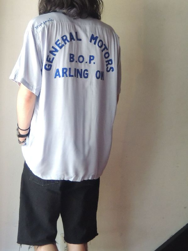 "50S PIN PUSHER RAYON BOWLING SHIRT ""GM\""--RECOMMEND--_c0176867_143988.jpg"