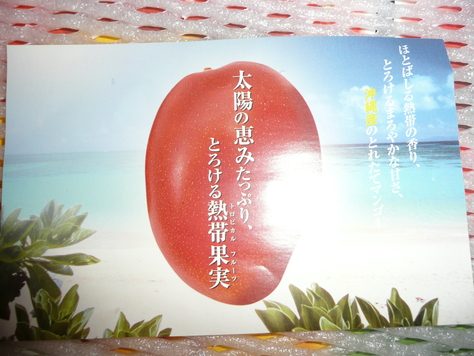 2015年7月28日 沖縄中学校同級生 金城幸栄君から中元にマンゴ その2_d0249595_18322069.jpg