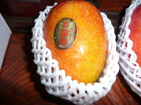 2015年7月29日 沖縄中学校同級生 金城幸栄君から中元にマンゴ その3_d0249595_18421465.jpg