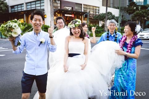 ハワイ挙式の新婦さんへ 白グリーンの花冠_b0113510_1583629.jpg