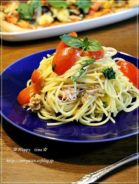 チンジャオロース弁当とトマトでパスタと酵母♪_f0348032_19315552.jpg