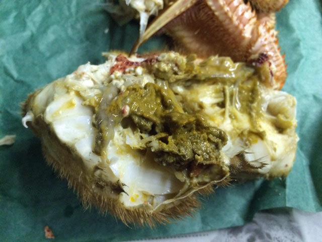 浜茹で毛ガニを食す_c0189970_09544703.jpg