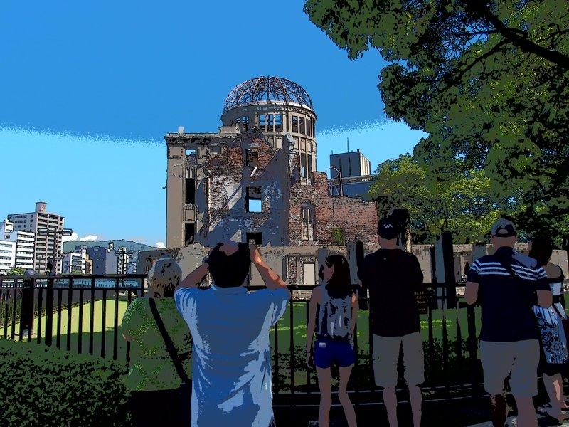 原爆ド-ムで出遭った人々_b0190540_16472960.jpg
