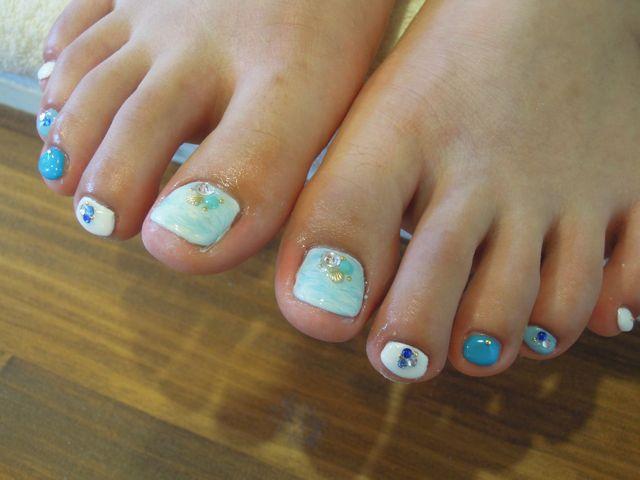 Marble Foot Nail_a0239065_1419388.jpg