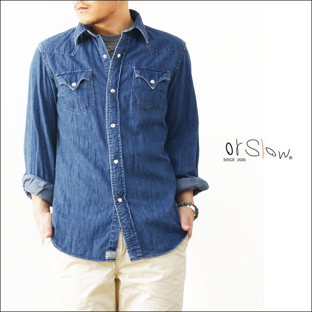 orslow [オアスロウ] WESTERN DENIM SHIRTS 2 [01-8002-95] MEN\'S_f0051306_18590825.jpg