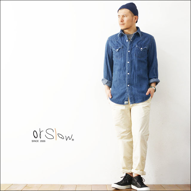 orslow [オアスロウ] WESTERN DENIM SHIRTS 2 [01-8002-95] MEN\'S_f0051306_18590829.jpg