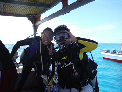 キミシマ環礁で記念ダイブ☆     JEEP IS._e0184067_18330514.jpg