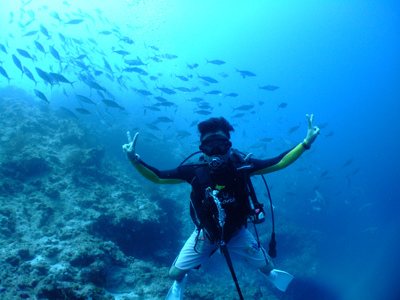 キミシマ環礁で記念ダイブ☆     JEEP IS._e0184067_18331067.jpg