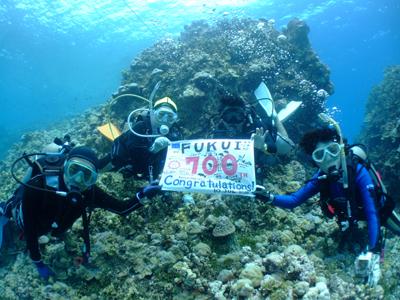 キミシマ環礁で記念ダイブ☆     JEEP IS._e0184067_18332199.jpg