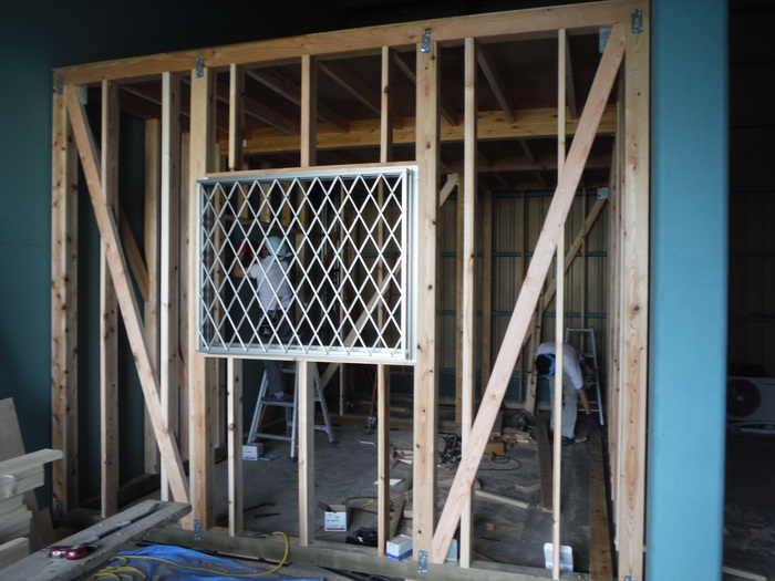 事務所の室内改装 ~ 壁、天井つくり_d0165368_447499.jpg