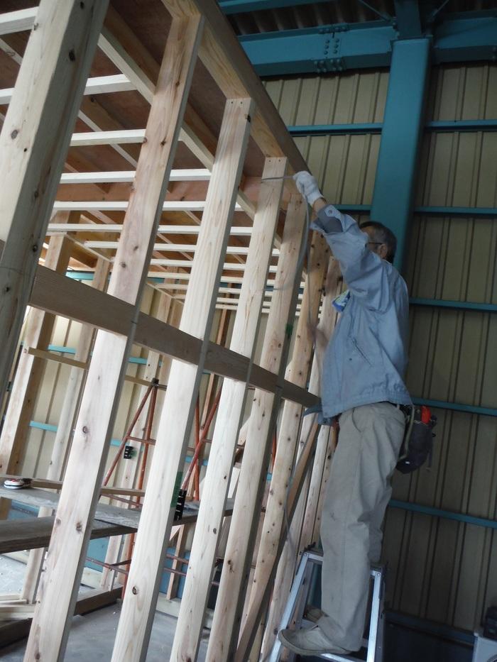 事務所の室内改装 ~ 壁、天井つくり_d0165368_4475434.jpg