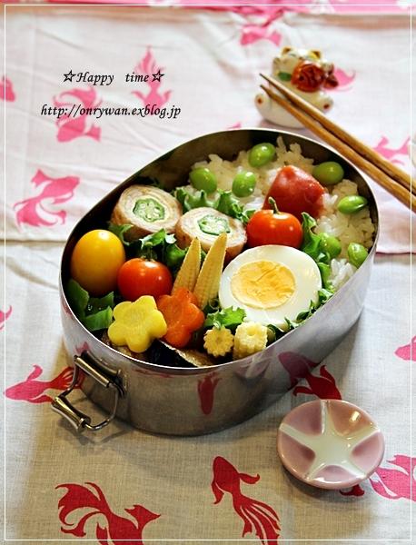 オクラきつねの肉巻き弁当とトマト酵母♪_f0348032_20074212.jpg