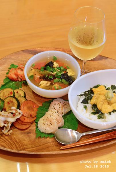 7月29日 水曜日 トマトと卵の中華スープ&生雲丹丼_b0288550_14352919.jpg