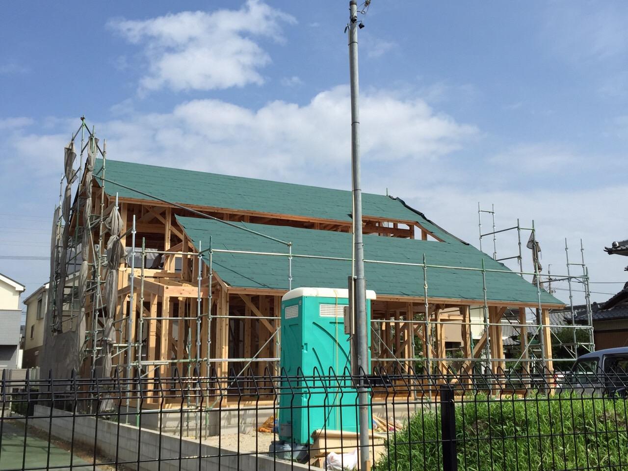 「勝川の家」建前です 7/28、29_e0215179_1644242.jpg