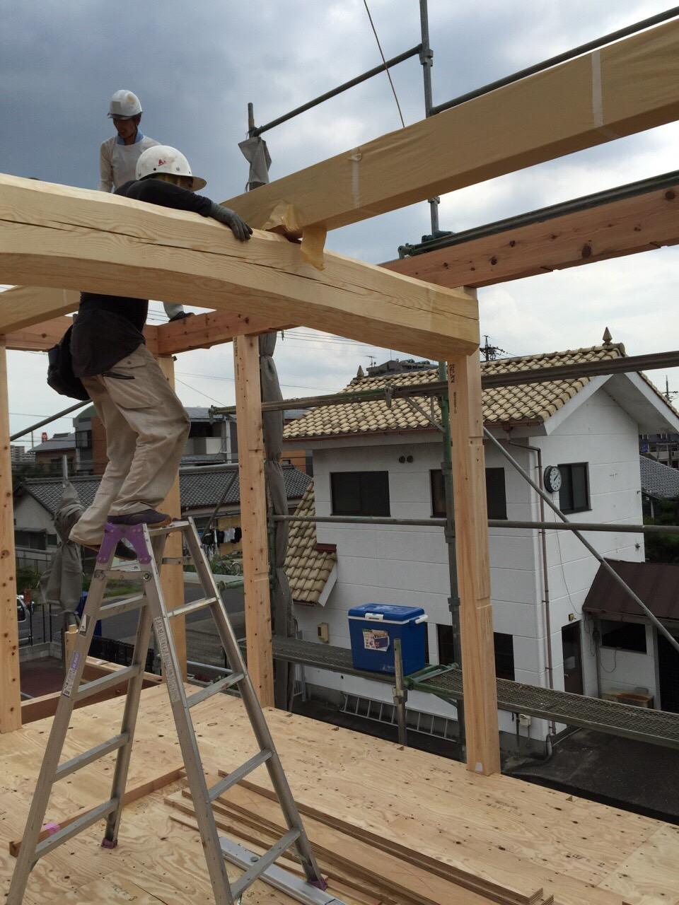 「勝川の家」建前です 7/28、29_e0215179_16453093.jpg
