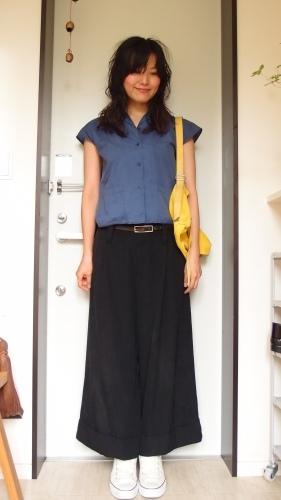 青、黄、黒の冷え取りファッション15 7/29_c0342582_15010138.jpg