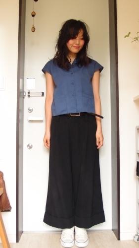 青、黄、黒の冷え取りファッション15 7/29_c0342582_15060221.jpg