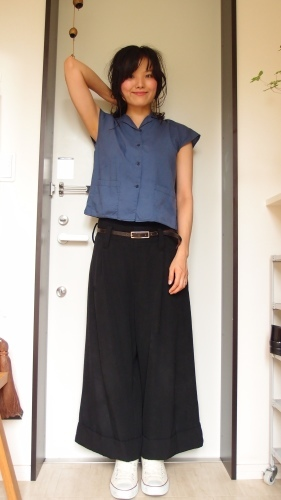 青、黄、黒の冷え取りファッション15 7/29_c0342582_15103955.jpg