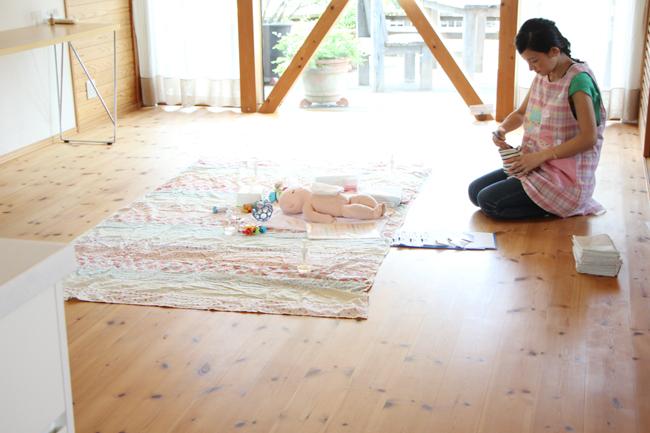 ベビーマッサージのお教室 |ふじみ野市のモデルハウスにて_d0080906_13304037.jpg