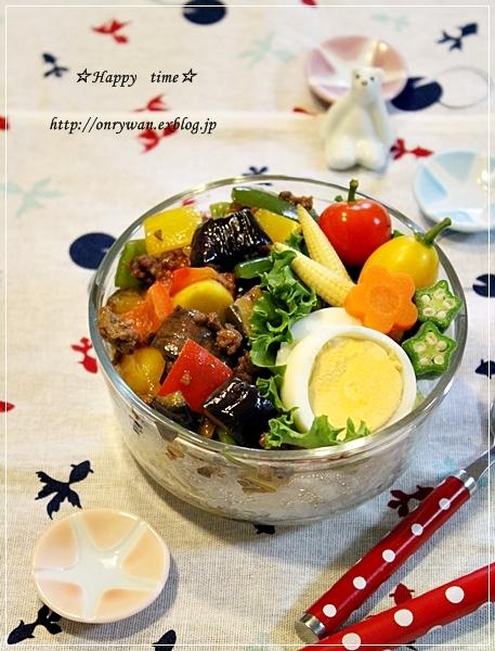 カラフル麻婆茄子丼弁当とトマト酵母山食でサンドイッチ♪_f0348032_19225196.jpg
