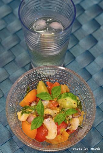 7月30日 木曜日 ロッシロック白♪と、生蛸とプチトマトの塩レモンマリネ&雲丹のトマトクリームスパゲティ_b0288550_10193358.jpg