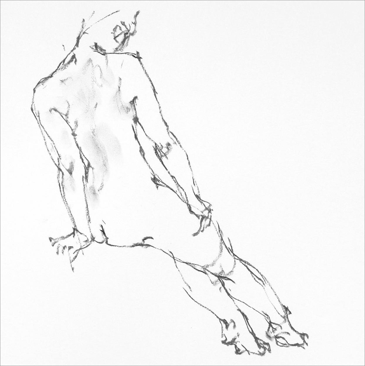 《 Croquis 裸婦線描×3 》_f0159856_11451139.jpg