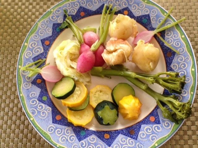 小さな夏野菜たちで・・_b0236665_15230072.jpg