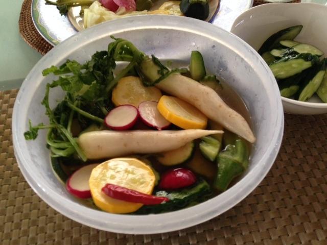 小さな夏野菜たちで・・_b0236665_15363583.jpg
